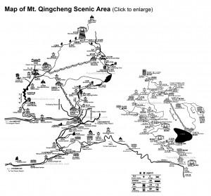 Карта гор Цинчэн