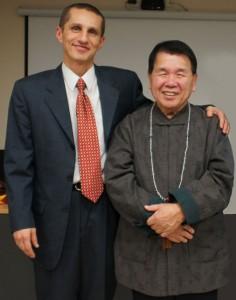 Мастер Шентан Су и его координатор в Украине Тарас Литвин