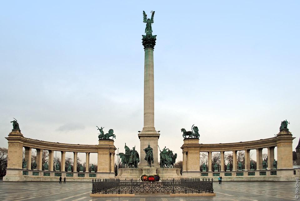 Будапешт главная площадь Героев