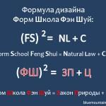 Cуть фэншуй в одной формуле