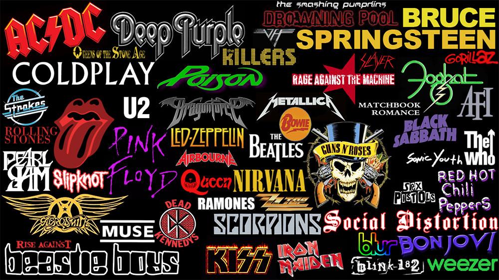 Логотипы лучших рок групп