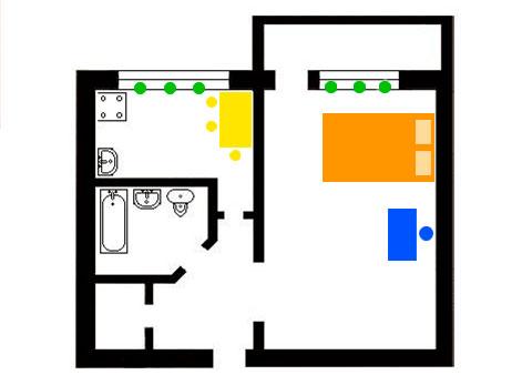1-комнатная хрущевка