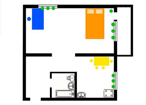 фэншуй 1-комнатной квартиры