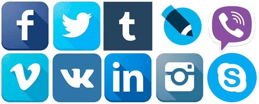 логотипы голубые и синие