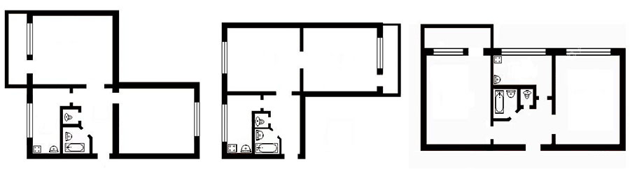 двухкомнатная квартира хрущевка по фэншуй