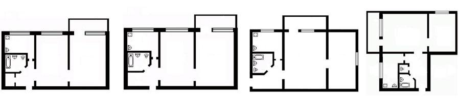 2-комнатная квартира хрущевка по фэншуй
