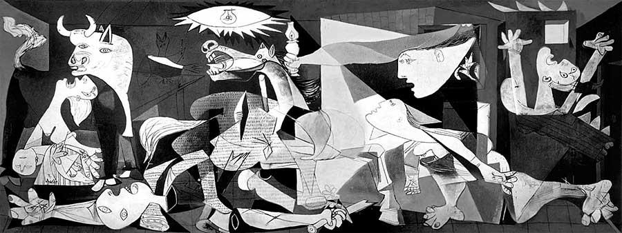 Герника Пикассо - фэншуй картин зданий
