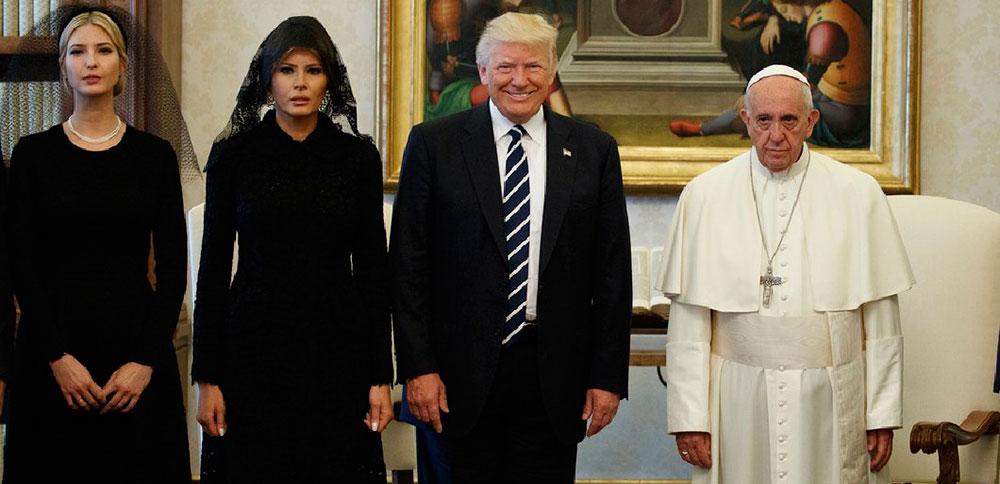 Трамп и папа Римский