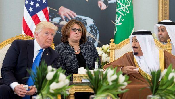 Трамп в Саудовской Аравии