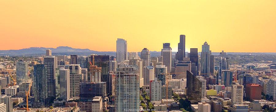 Рассвет в Сиэтле. Фото: Pixabay